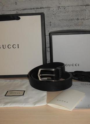 Ремень пояс мужской  gucci кожа, италия, оригинал 210