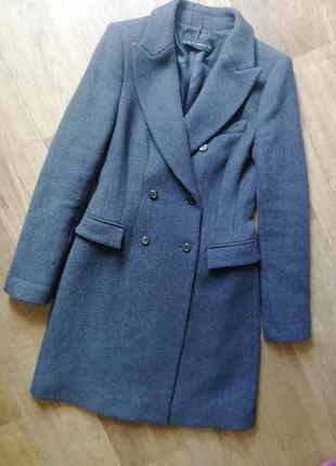 Zara трендовое шерстяное пальто1 фото