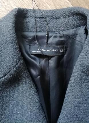 Zara трендовое шерстяное пальто4 фото