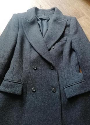 Zara трендовое шерстяное пальто5 фото