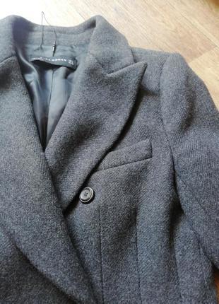 Zara трендовое шерстяное пальто7 фото