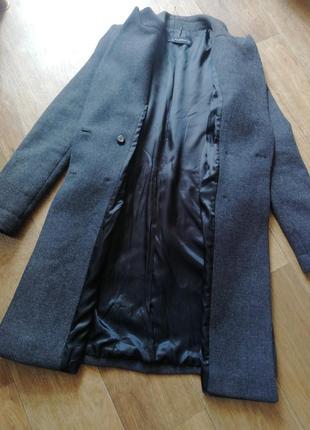 Zara трендовое шерстяное пальто8 фото