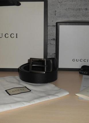 Ремень пояс мужской  gucci кожа, италия, оригинал 212