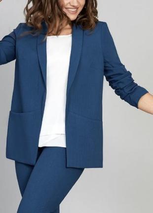 Пиджак жакет синий бойфренд