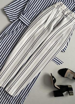 Стильный брюки с высокой посадкой в полоску new look