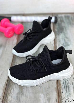 Кроссовки текстиль на шнурках .