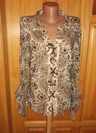 Блуза рубаша стильная со шнуровой  сетка вилюр  xl - etam