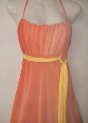Debut debenhams шифоновое платье градиент британия