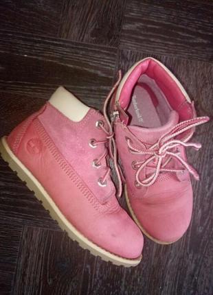 Демисезонные ботинки  ,нубук кожа