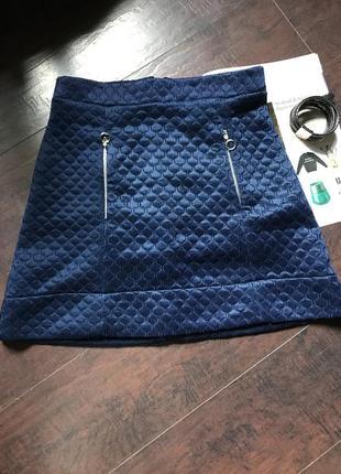 Темно синяя юбка s