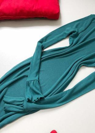 Платье миди в рубчик с рюшей на рукавах asos7 фото