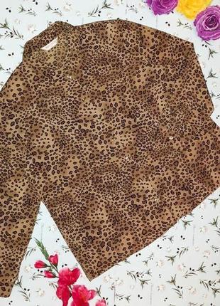 🌿1+1=3 фирменная плотная блуза в леопардовый принт bonmarche, размер 54 - 56