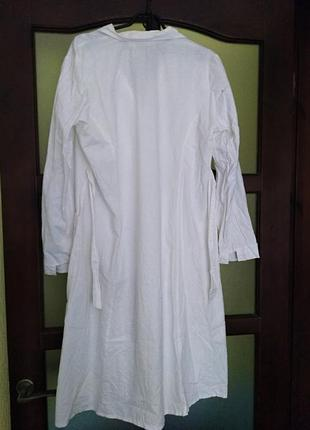 Медицинский халат с поясом, р.502 фото