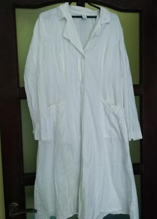 Медицинский халат с поясом, р.501 фото