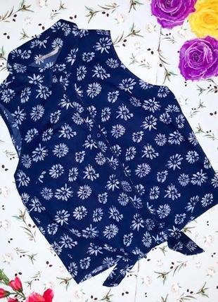 🌿1+1=3 стильная блуза блузка рубашка (внизу завязывается) george, размер 46 - 48