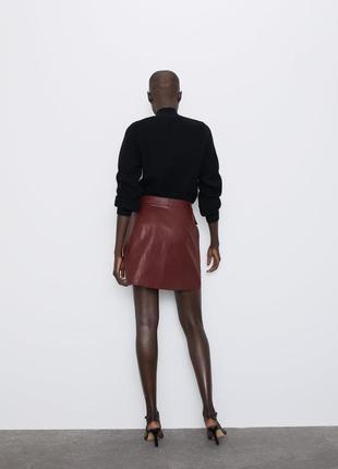 Новая кожаная юбка zara4 фото