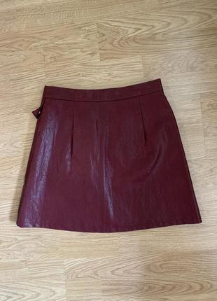 Новая кожаная юбка zara8 фото