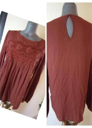 Женская терракотовая блуза из вискозы