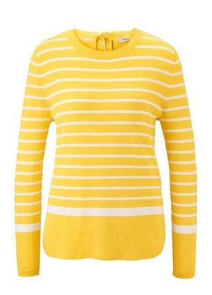 Джемпер в желто-белую полоску tcm tchibo