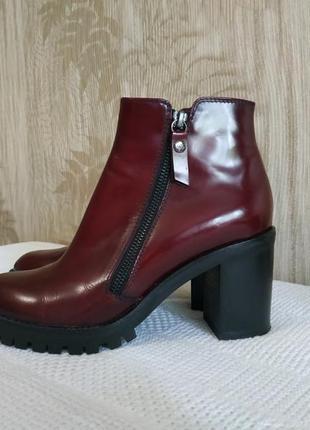 Италия agl лаковые ботинки, полуботинки, кожаные сапоги, полусапожки на тракторной подошве