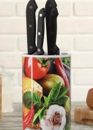 Подставка для ножей с наполнителем из полипропиленового волокна – овощная