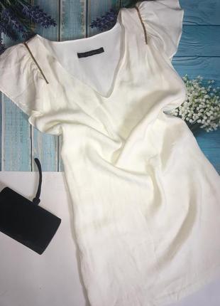 Платье zara шампань- m.