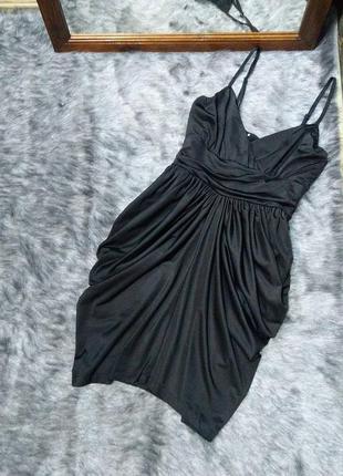 Платье с драпированной юбкой