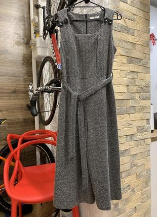 Шикарный стильный серый  комбинезон брюки кюлоты3 фото