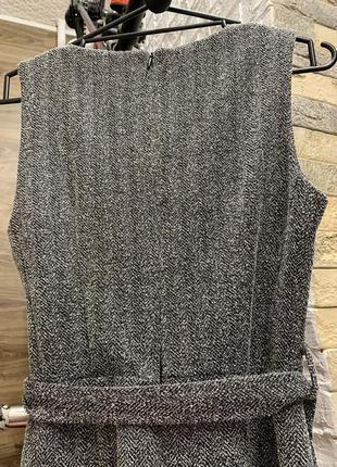 Шикарный стильный серый  комбинезон брюки кюлоты5 фото