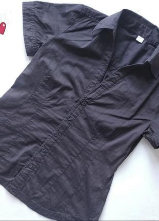 Рубашка s.oliver приталенная, блуза с коротким рукавом
