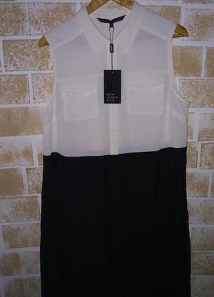 Крутая удлиненная рубашка / блуза колор блок , большой размер!👌🌷2 фото