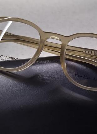 Новая премиум оправа saint laurent очки, made in italy. прозрачная/нюд лоран