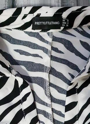 Prettylittlething ветровка/накидка зебра4 фото
