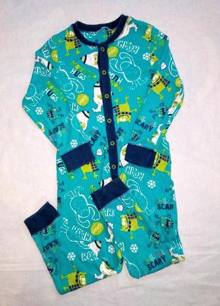 Человечек, слип, пижама, одежда для дома на мальчика 3-4 года.