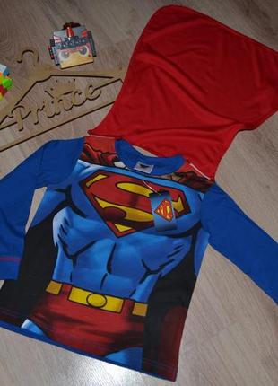 Новая кофта реглан super man 3-4г с плащом