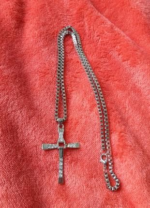 Новий кулон хрестик цепочка