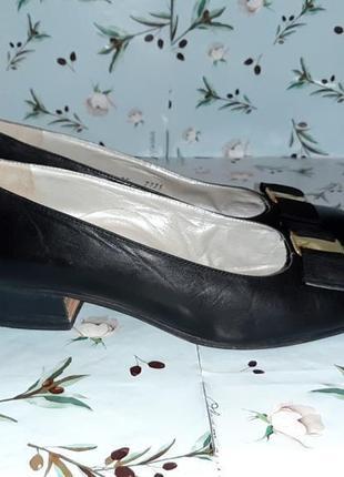 🌿1+1=3 фирменные кожаные черные туфли балетки (натуральная кожа), размер 374 фото