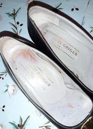 🌿1+1=3 фирменные кожаные черные туфли балетки (натуральная кожа), размер 373 фото