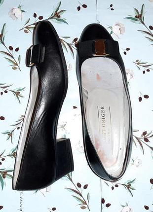 🌿1+1=3 фирменные кожаные черные туфли балетки (натуральная кожа), размер 377 фото