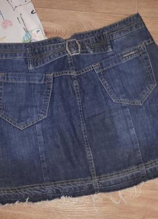 Джинсовая юбка + футболка комплект на лето3 фото