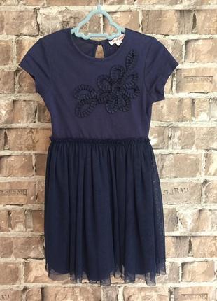 Подвійне плаття для дівчинки з фатіна та хб на підкладі bluezoo,вік 3-4 р