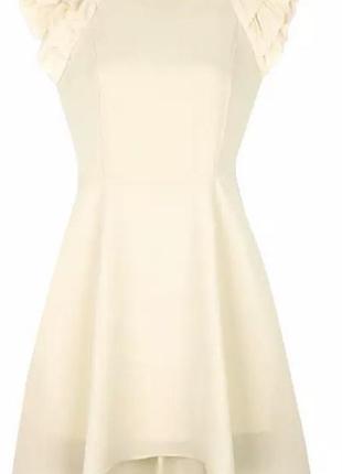 Платье бежевое шифон летнее выпускное нарядное