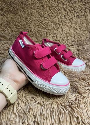 Обувь кеды детские малиновые на девочку