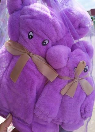 Подарочный набор полотенец, два медведя