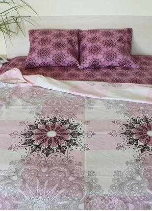Постельное бельё из бязи двуспального размера розовые одуванчики