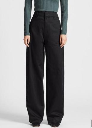 Широкие брюки с высокой талией uniqlo