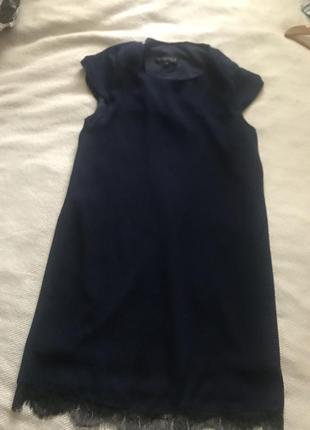 Платье сукня синее короткое с кружевом нарядное asos missguided