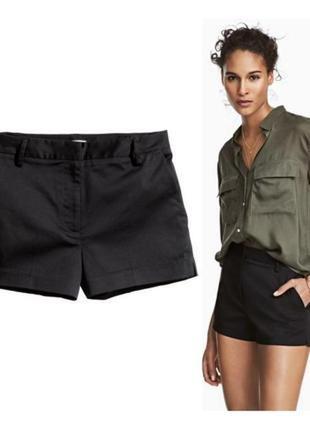 H&m классные шорты черные короткие классические летние