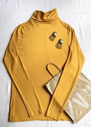 Жёлтый гольф базовая водолазка жёлтая кофта в стиле zara