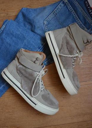 Marc cain стильные демисезонные ботинки кроссовки кеды кожаные кожа оригинал 39